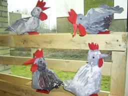 Het kippenhok - Maken rode verf ...